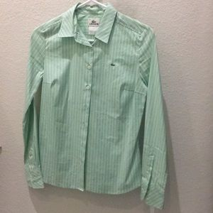 Tops - Lacoste button down shirt in size 38